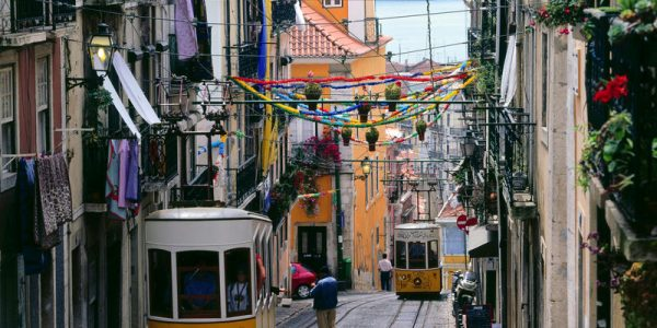 Bairro Alto, Elevador da Bica, Lissabon, Estremadura, Distrikt Lisboa, Portugal