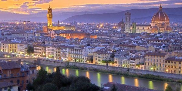 Anochecer en Florencia
