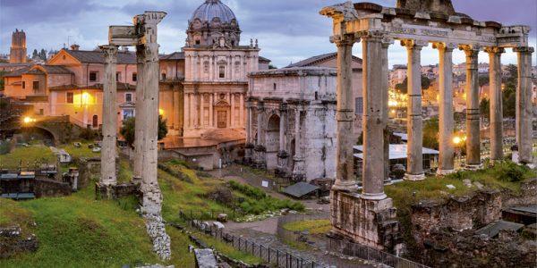 Atardecer en el Foro, Roma